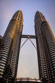 Petronas towers, kuala lumpur — Stockfoto