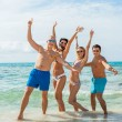 Friends are enjoying summer holidays — Stock Photo #48669963