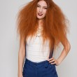 Model with frizzy hair — Stock Photo #48669989
