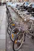 Bicycles with a child seat — Стоковое фото