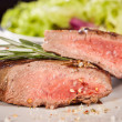 Succulent medium rare beef steak — Stock Photo #48670155