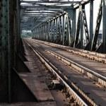 Railroad tracks on scale bridge — Stock Photo #48670159