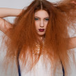 Model with frizzy hair — Stock Photo #48670897