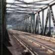 Railroad tracks on scale bridge — Stock Photo #48672423