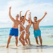 Friends are enjoying summer holidays — Stock Photo
