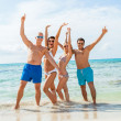 Friends are enjoying summer holidays — Stock Photo #48672649