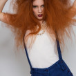 Model with frizzy hair — Stock Photo #48675131