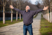 Man enjoying the sunshine — Stock Photo