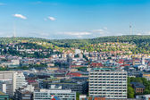 Scenic rooftop view of Stuttgart — Stock fotografie