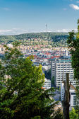 Scenic rooftop view of Stuttgart — Foto Stock