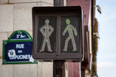 Pedestrian traffic lights — Stock Photo