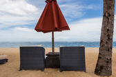 Beach umbrella in Bali — Stock Photo
