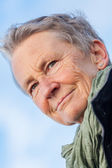 Grey-haired elderly woman — Stock Photo