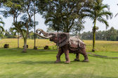 Elephant statue standing on at park — Stock Photo