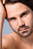 Sexy bearded man — Stockfoto