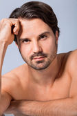 Sexy bearded man — Stock Photo