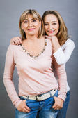 Smilling mother and daughter — Stock Photo