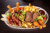 Platter of mixed meats — Stock Photo