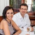 Romantic couple in restaurant — Stock Photo #49587191