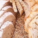 Fresh tasty mixed bread slice bakery loaf — Stock Photo #49587551