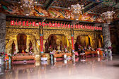 Interior of an ornate Asian temple — Stock Photo