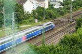 Snabba tåg i rörelse — Stockfoto