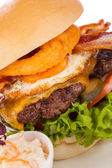 Delicious egg and bacon cheeseburger — Foto Stock