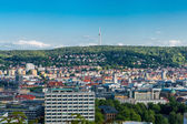 Scenic rooftop view of Stuttgart, Germany — Foto de Stock