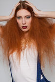 Model with frizzy hair — Stock Photo