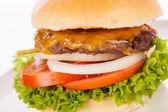 чизбургер с шинкованной капустой капусты — Стоковое фото