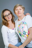 Loving grandmother and granddaughter — Foto Stock