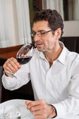 Man drinks wine — Stock Photo