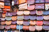 Colorful bags for sale — Stock Photo