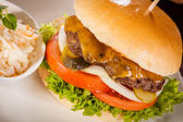 Cheeseburger with cole slaw  — ストック写真
