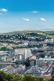 Malowniczy widok na dachu z stuttgart, niemcy — Zdjęcie stockowe