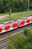 Hızlı hareket eden bir trenin — Stok fotoğraf