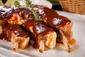 Delicious grilled pork ribs — Stockfoto