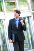 Motivated businessman — Stock Photo