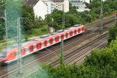 快速行驶的火车 — 图库照片