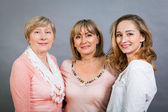 Three generations with a striking resemblance — Stock Photo
