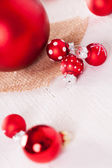 Red themed Christmas background — Stock Photo