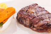 Grilled beef steak with seasoning — 图库照片
