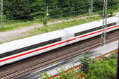 Fast moving trains — Stockfoto