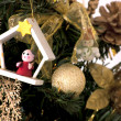 Christmas tree decorated with toys — ストック写真