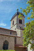 Medieval church with clear sky in the background — Stock Photo