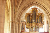 Golden orgue from catholic church from Romania — Stock Photo