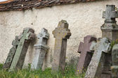 Gothic crosses a Roman Catholic cemetery — Stock Photo