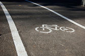 Cycling track in park — Foto de Stock