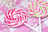 Two candy with flowers — Stock Photo
