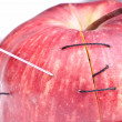 Stock Photo: Surgical apple